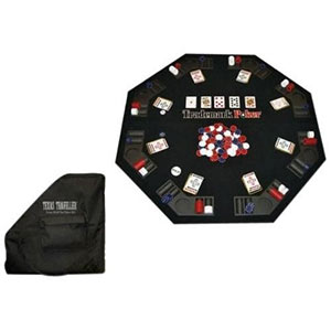 Trademark Poker Texas Traveller Table Top and 300 Chip Travel Set